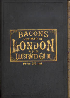 Bacons New Map Of London And Illustrated Guide by