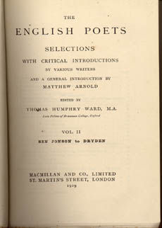 The English Poets by Ward Thomas Humphrey
