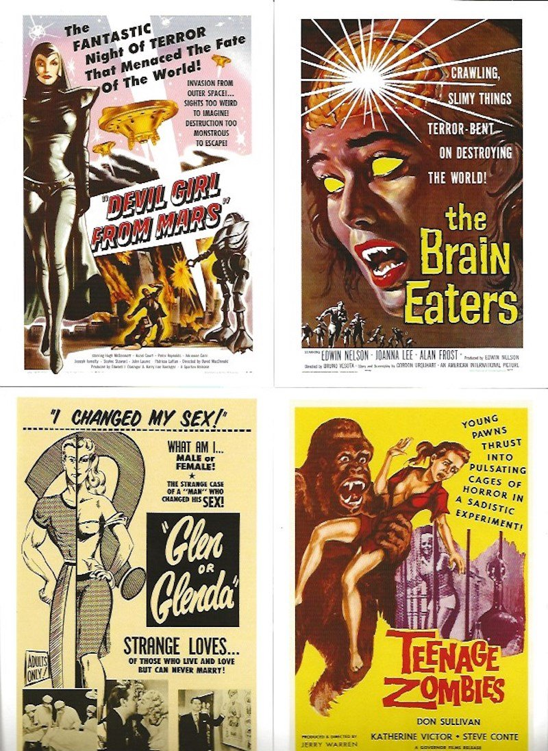 B Movie Posters by